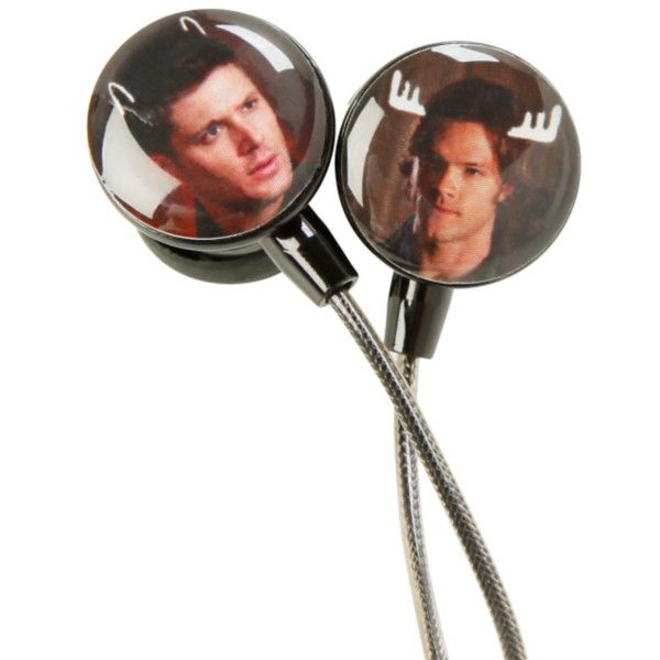 Supernatural Moose & Squirrel Earbuds | Hot Topic ($13) ❤ liked on Polyvore featuring accessories, tech accessories, supernatural and earphones earbuds