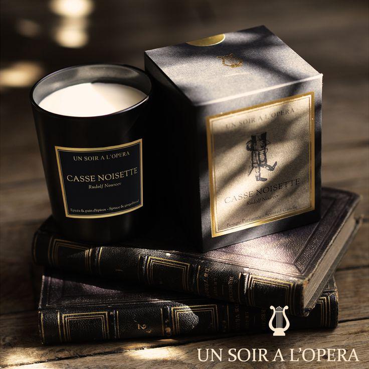 Casse-noisette Un soir à l'Opéra Bougie parfumée  #unsoiralopera #bougie #candle #operacandle #opera #luxurycandle #ballet