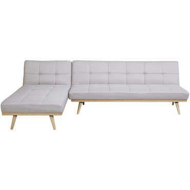 Canapé d'angle réversible convertible 4 places MAJA coloris gris clair - pas…