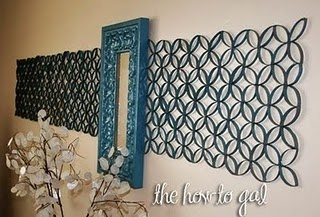 Ok people, this is made from...............are you ready for this??? I don't think you are.....ok its made from cut up toilet paper rolls!!! Check it out!