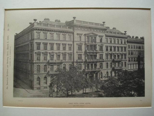 Grand Hotel , Vienna, Austria, EUR, 1890, Carl Tietz