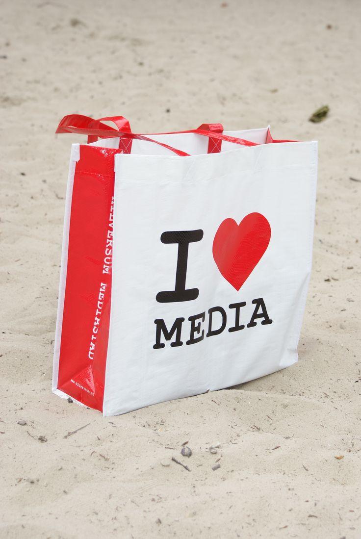 I ♥ Media on the beach....