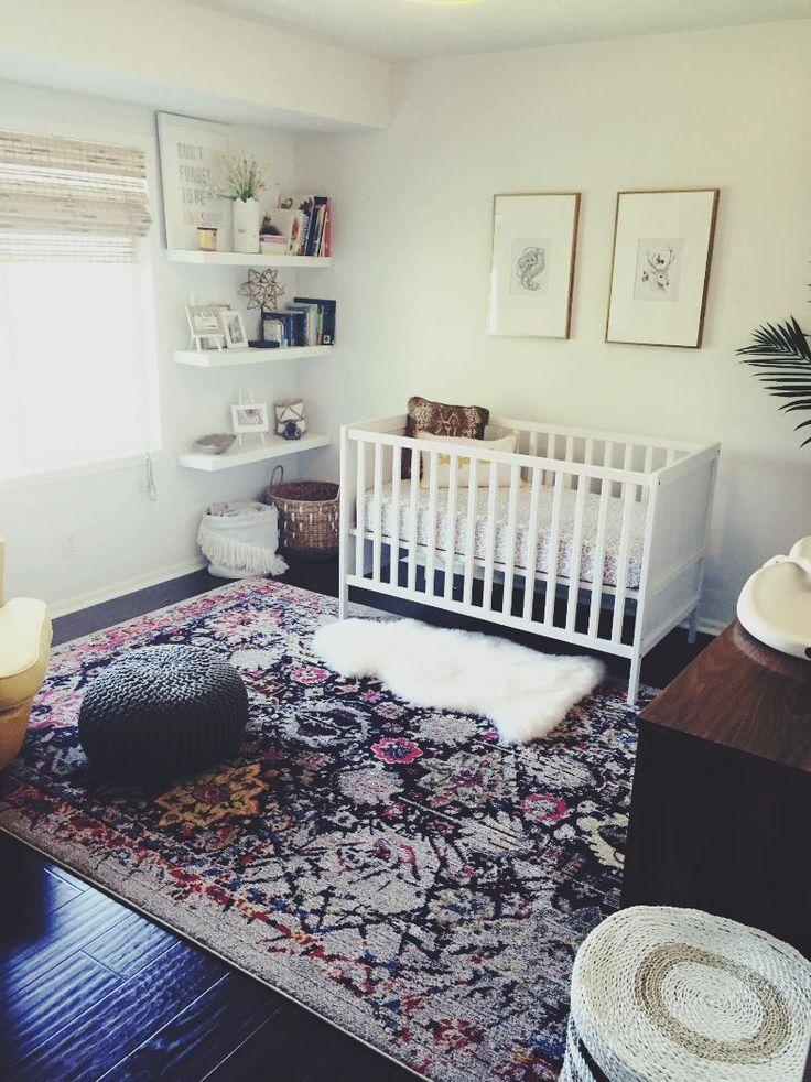modern streamline bohemian nursery /// eclectic nursery /// boho nursery #iconicstyling