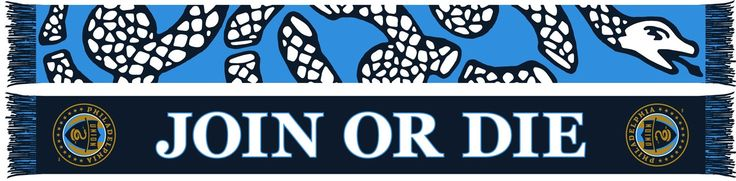 """Tell your opponents, """"Join or Die""""! The snake will back you up! Officially licensed MLS merchandise High-quality 100% acrylic, jacquard knitted scarf."""