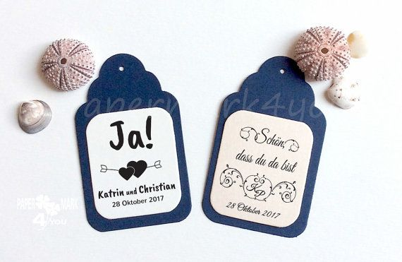 24 Wedding Personalized Tag _ Highly by PaperMark4You on Etsy