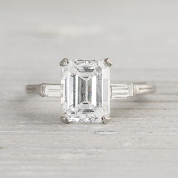 2 43 Carat Vintage Tiffany & Co Engagement Ring