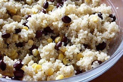 Quinoa with black beans, corn & chipotle pepper, lime and honey ...