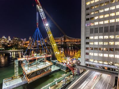 See Rockefeller University's Modular Expansion As It's Lowered Into Place