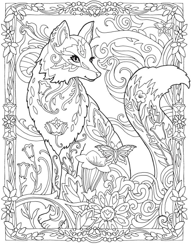 Welcome To Dover Publications Creative Haven Fanciful Foxes Coloring Book