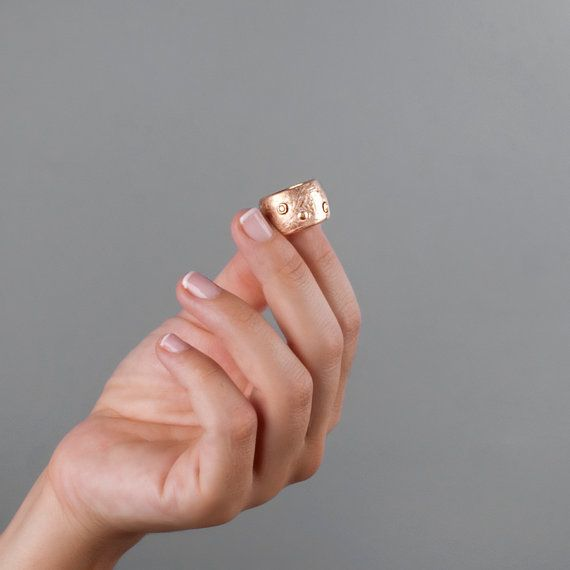 Rose Gold #Band, Red #Gold #Ring by Tooli's Jewelry