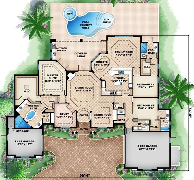 87 best House Plans images on Pinterest | Floor plans, Dream houses ...