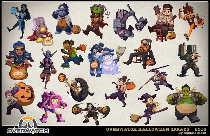 24-Overwatch sprays halloween.jpg | Concept/Illustration ...