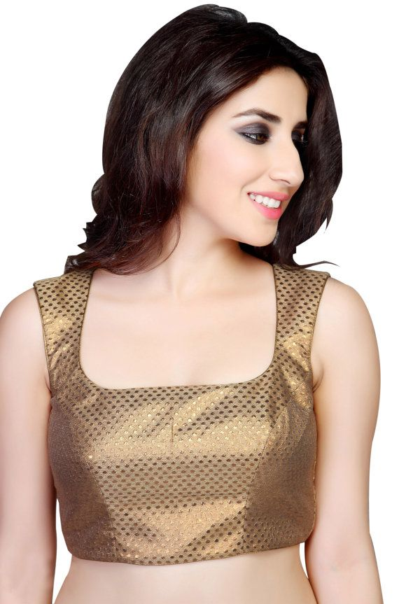 Copper Sleeveless ReadyMade Saree Blouse Choli by SarisAndThings, $79.00