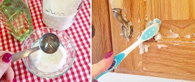 Quita la grasa natural y rápidamente de los gabinetes de la cocina.