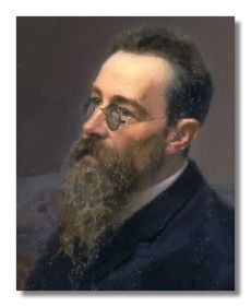 Nikolai Rimsky-Korsakoff. [ Of all the great Russian nationalist composers of the latter part of the 19th century, Nikolai Andreievich Rimsky-Korsakoff (March 18, 1844 - June 21, 1908) stands second only to Mili Balakirev in his practical influence on the music created and preserved in that period.]