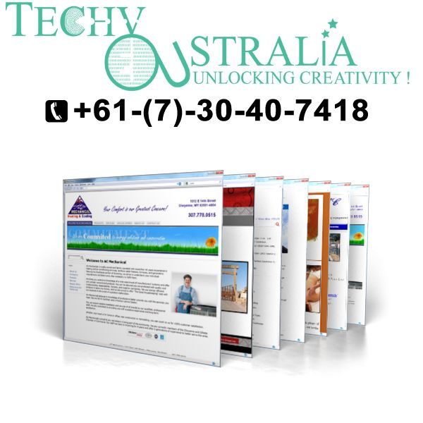 wordpress  website Techy Australia +61-(7)-30-40-7418