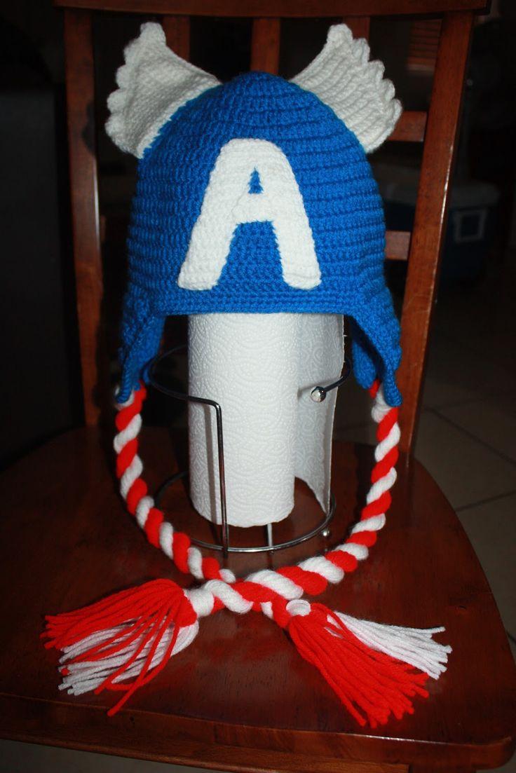 Capitan America Gorro Tejido Al Crochet Pictures