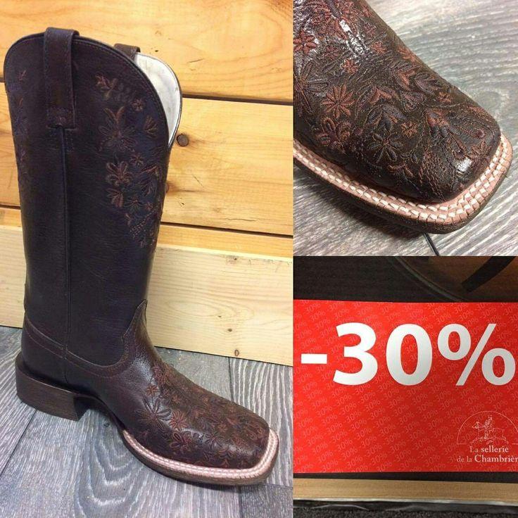Des rabais encore et toujours à la sellerie . Profitez des bottes western modèle Ardent à -30%. Promotion accessible en ligne également : https://chambriere.ca/produits/c-3-le-cavalier/c-77-bottes-western/c-78-bottes-western-femmes