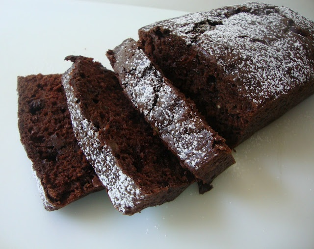 chocolate chocolate chip zucchini bread..deelish!  not sure if its healthy, but it definitely tastes good! -WKO