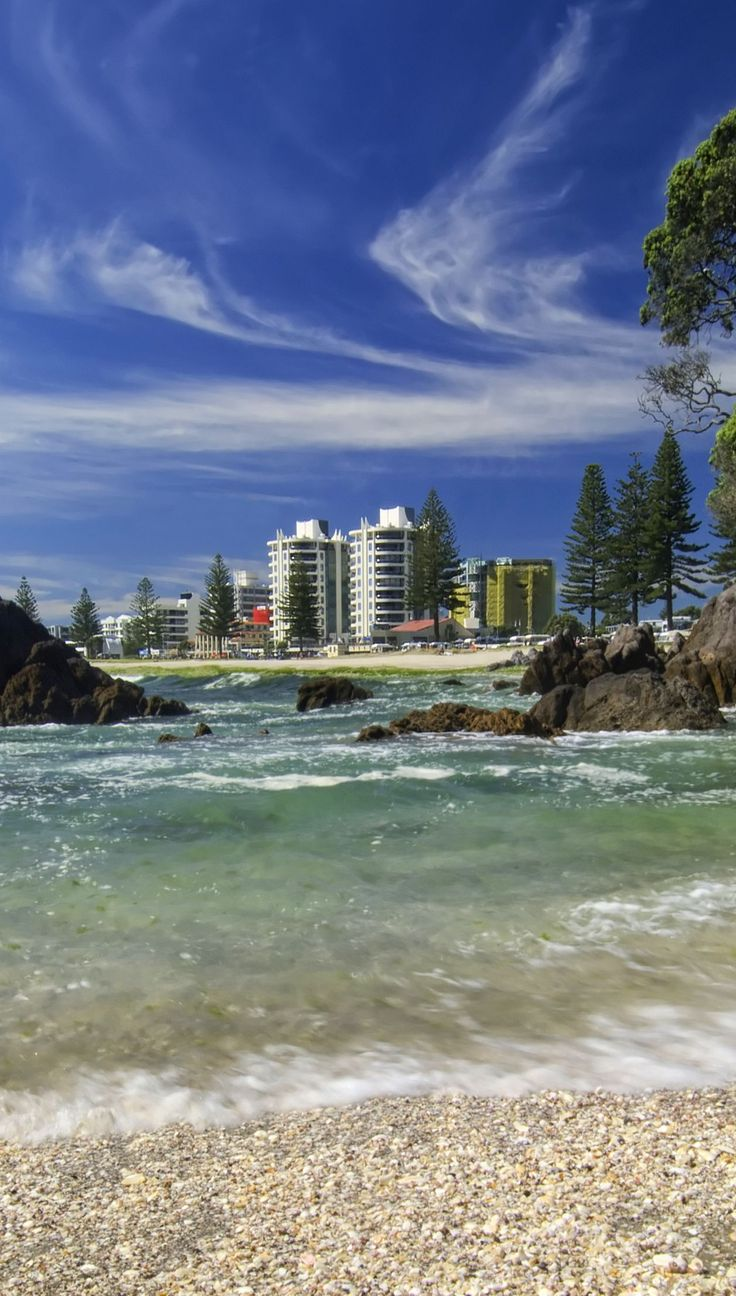 Shelly beach at Mount Maunganui, Tauranga, New Zealand