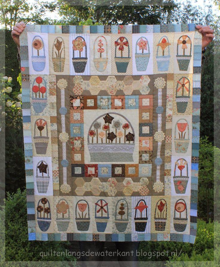 Mooie pockets of posies van Jolanda van blog: quilten langs de waterkant