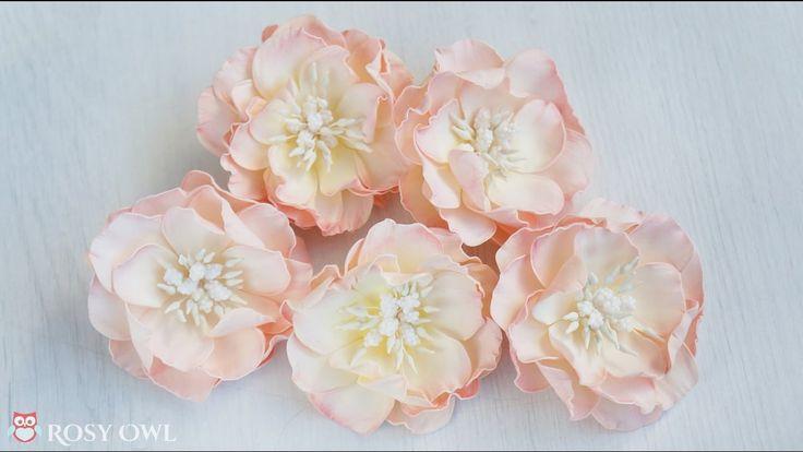 Foamiran flower tutorial with Rosy Dot dies - kurs na kwiatek z foamiranu