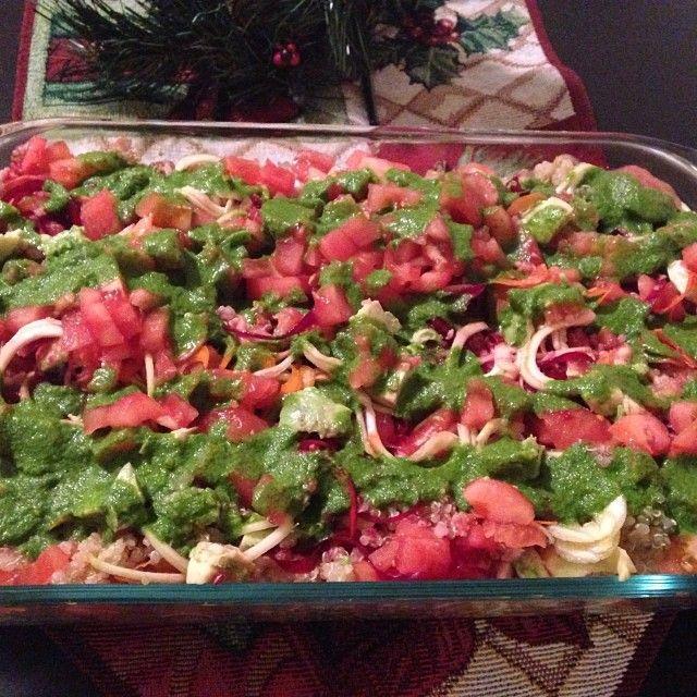 #Instagram @NaturalTatianaB  Christmas quinoa salad  Ensalada de navidad