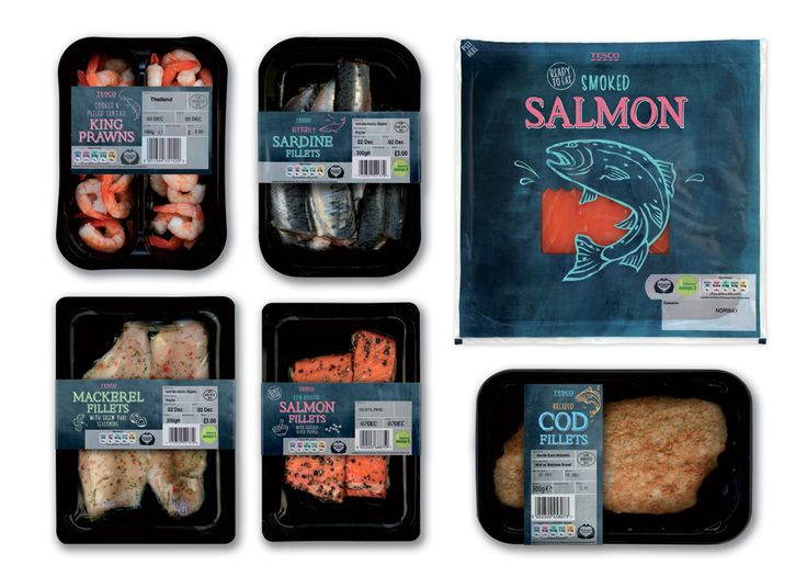 """""""The idea was to emulate the buzz and atmosphere of a bustling fishmongers/fish market."""" An interesting peek into packaging design."""