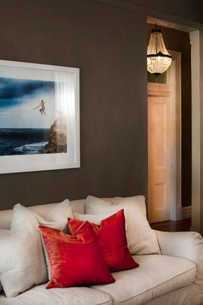 Seductively painted and curated interior Mosman Residence by Villa + Villa using Sydney Harbour Paints (aka Porter's Paints). Image credit: Ross Coffey rosscoffey.com/