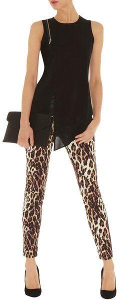 Karen Millen ~ Leopard Print Jean
