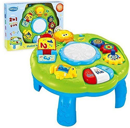 Musical Learning Table Baby Toy - Electronic Education Toys for 6 month+ Toddlers Early Development Activity Toy by Hanmun (Green). For price & product info go to: https://all4babies.co.business/musical-learning-table-baby-toy-electronic-education-toys-for-6-month-toddlers-early-development-activity-toy-by-hanmun-green/