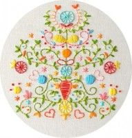 Tree of Love Embroidery Pattern