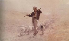 Shepard with herd - Nicolae Grigorescu