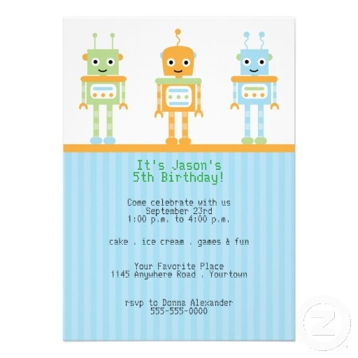 112 best images about Robot Party Ideas – Robot Party Invitations