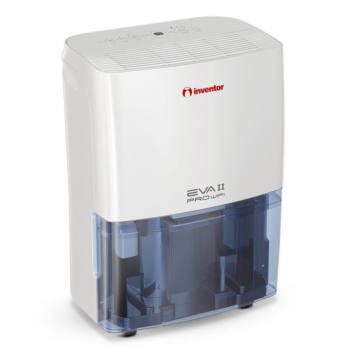EVA II Pro Wi-Fi Luftentfeuchter 20L/Tag. Genießen Sie ideale Bedingungen durch seinen geräuscharmen Betrieb und sparen Sie Energie durch die intelligente WLAN-Technologie. Sorgen Sie mit dem integrierten Ionisator für eine gesunde und saubere Atmosphäre in Ihrer Umgebung, frei von Staub, Bakterien und Gerüchen. Trocknen Sie Ihre Wäsche mit dem Trockner-Modus in Jahreszeiten mit hoher Luftfeuchtigkeit und Sie sparen Geld und Energie durch die intelligente Entfeuchtung.