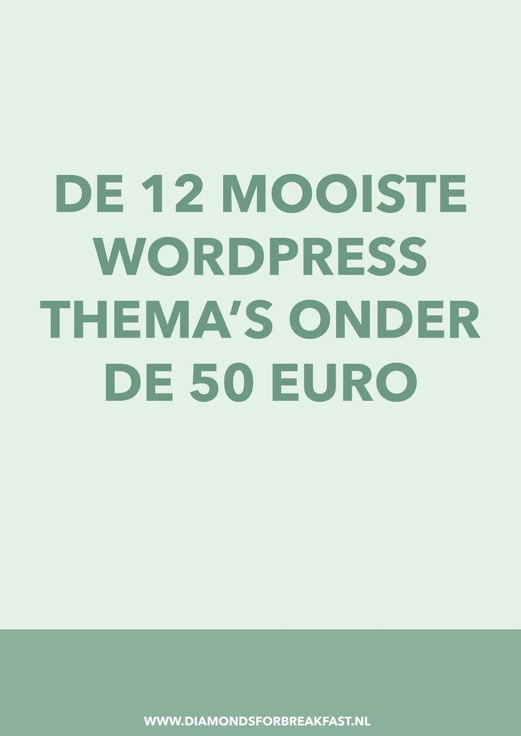 Ben je op zoek naar een mooi, maar niet al te duur thema voor je WordPress blog? Ik heb de mooiste WordPress thema's onder de 50 euro voor je op een rijtje gezet.
