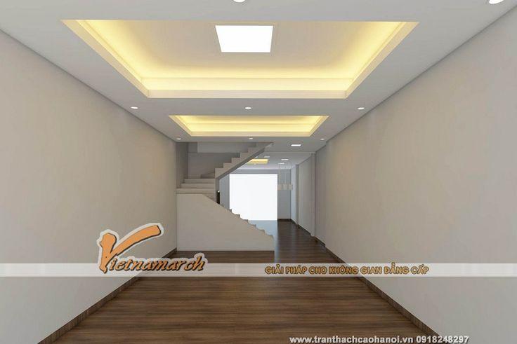 Bản thiết kế 3D cho trần nhà và đèn led âm trần của nhà chị Phương - 79 Cầu Giấy
