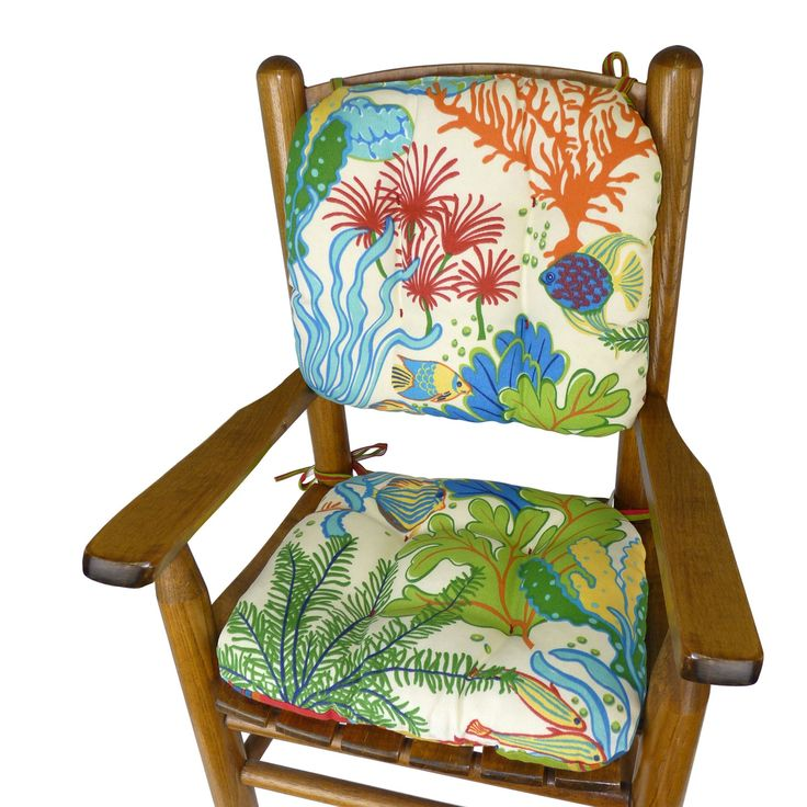 Child Rocking Chair Cushions - Splish Splash Tropical Fish