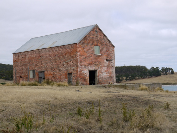 Old Red brick industrial barn