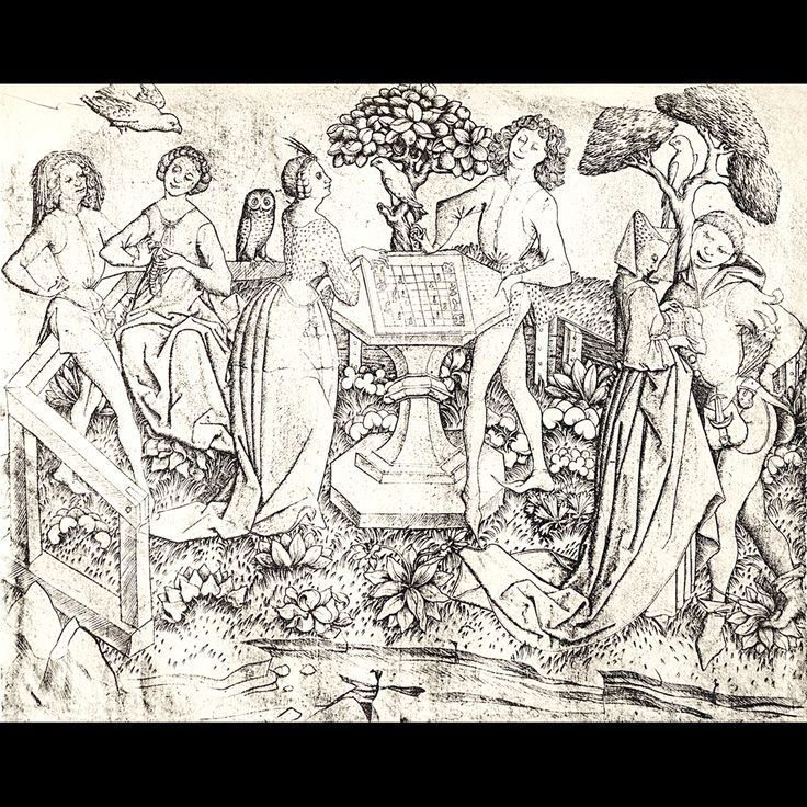 "Master ES, 1459, ""Garden of Love"" Berlin"