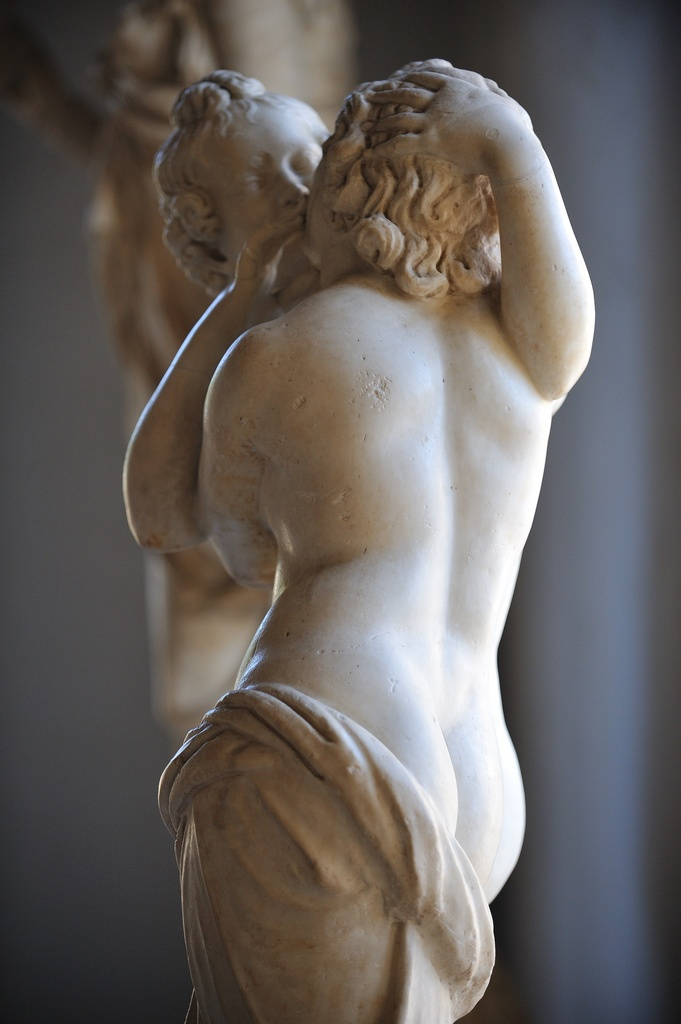 Detail - Cupid kissing Psyche. From an original of 2nd century B.C.E. Rome, Capitoline Museums, Palazzo Nuovo.