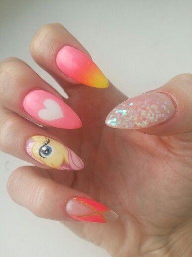 Pony nails #nails #paznokcie #ponynails #fluttershynails