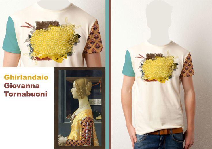 Diseño de Eva María Martínez Gómez inspirado en Giovanna Tournabuoni de Domenico Ghirlandaio http://www.museothyssen.org/thyssen/ficha_obra/365 #CamisetasThyssen