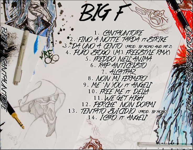 BiG F - CantaUntore BACK (2012/2013)  Graphic Project by Marco Zano