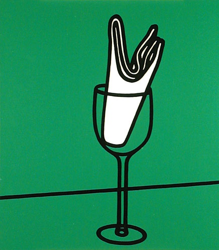 Patrick Caulfield, D Her handkerchief swept me along the Rhine, 1973