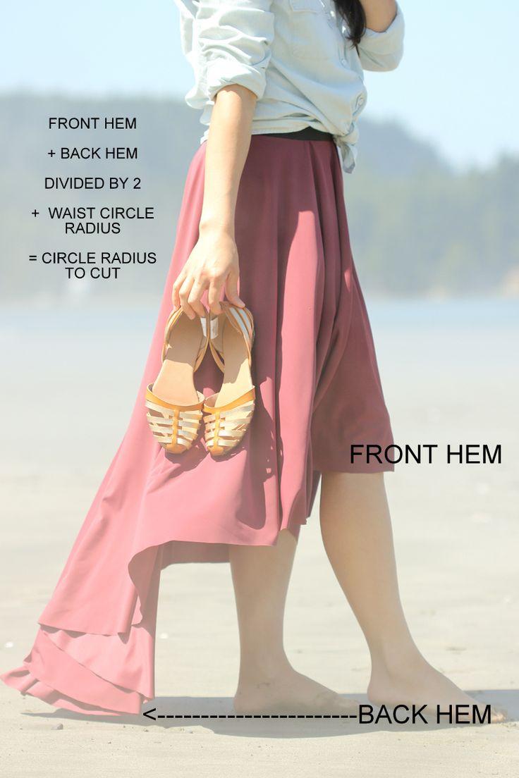 how to make fishtail skirt