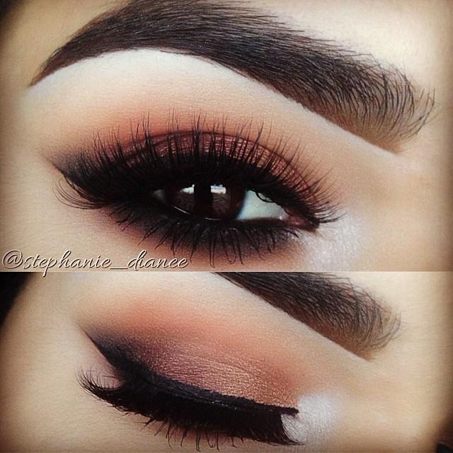 Gorgeous eye makeup and eyebrows