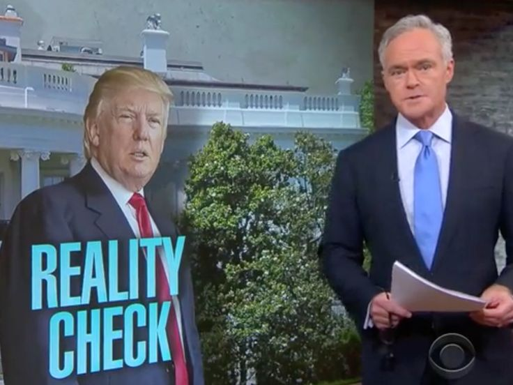 CBS News anchor Scott Pelley threw shade at President Donald Trump on Monday night, following a...