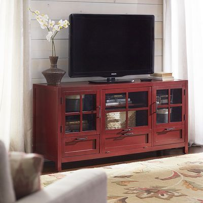 Sausalito Large TV Stand - Antique Red