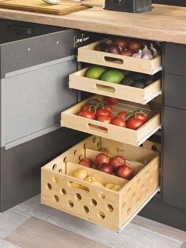 Küchenschrank Ideen des Einzugs in eine Schublade…